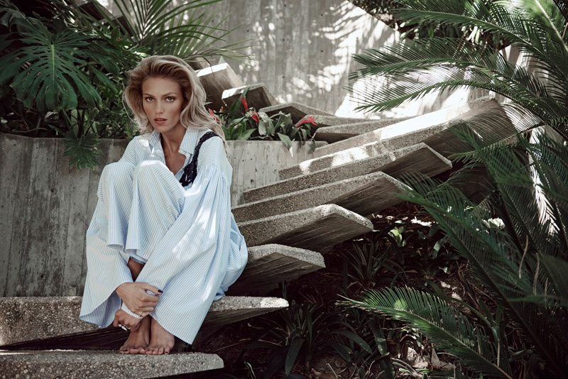 Anja Rubik Gives Relaxed Vibes in Viva! Moda by Eric Guillemain