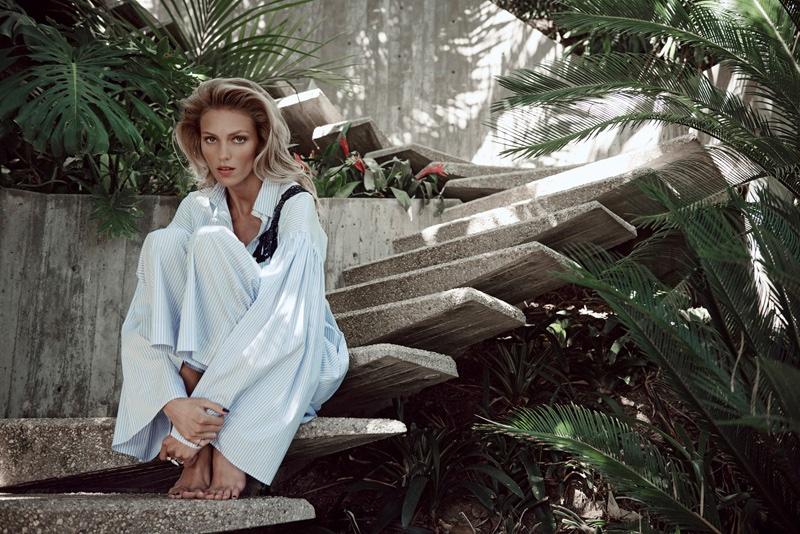 Anja Rubik stars in Viva! Moda editorial