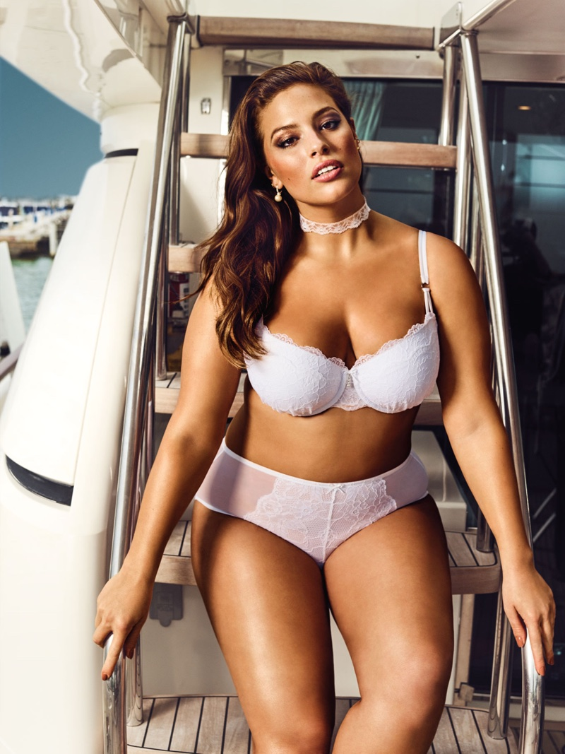 203e22270cb Ashley Graham models her Addition Elle spring 2016 bridal lingerie  collaboration. Photo  Addition Elle