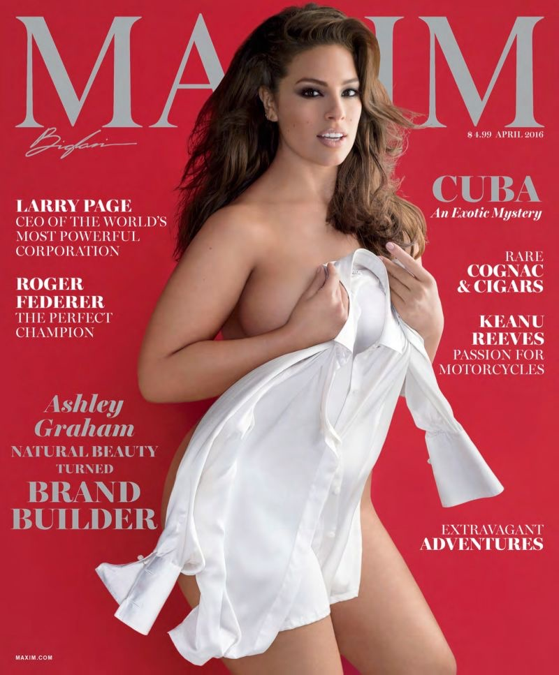 Ashley Graham Nearly Bares All for Sexy Maxim Cover Story