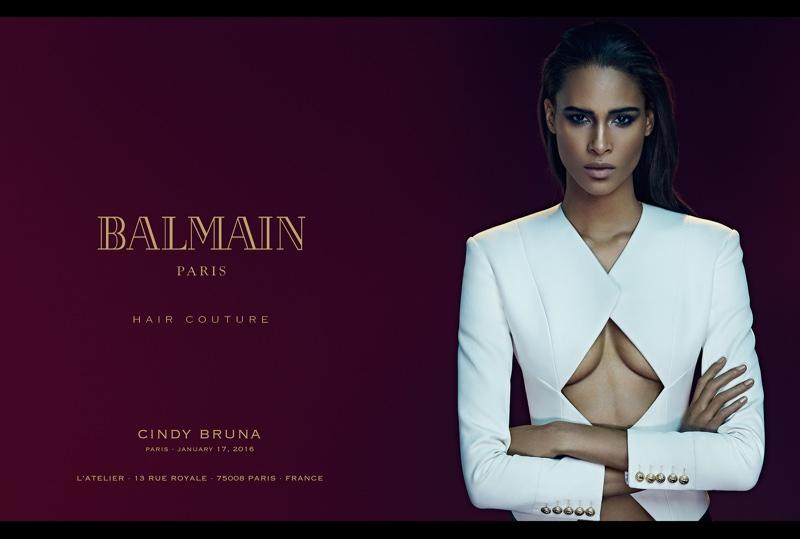 Cindy Bruna stars in Balmain's spring-summer 2016 campaign