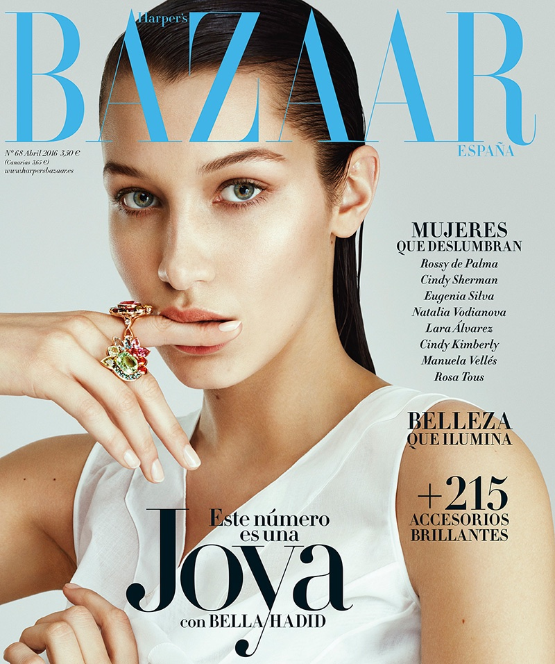 Bella Hadid on Harper's Bazaar Spain April 2016 Cover