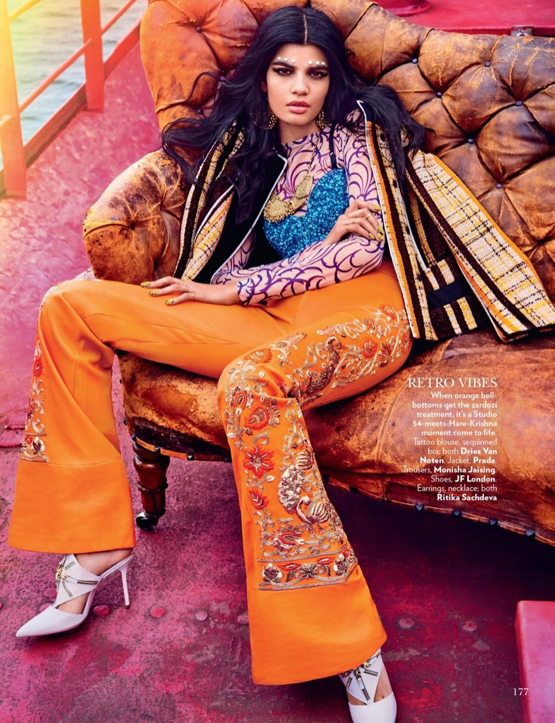 Bhumika Arora Wears East Meets West Style for Vogue India