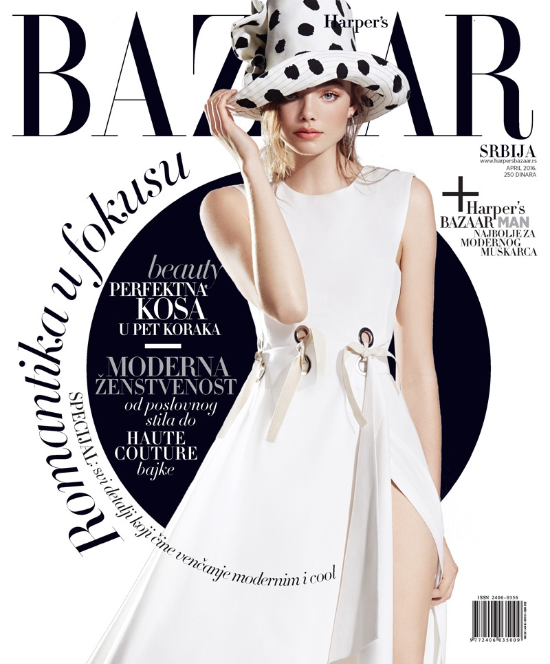 Kristine Froseth Masters The Black & White Wardrobe for BAZAAR Serbia