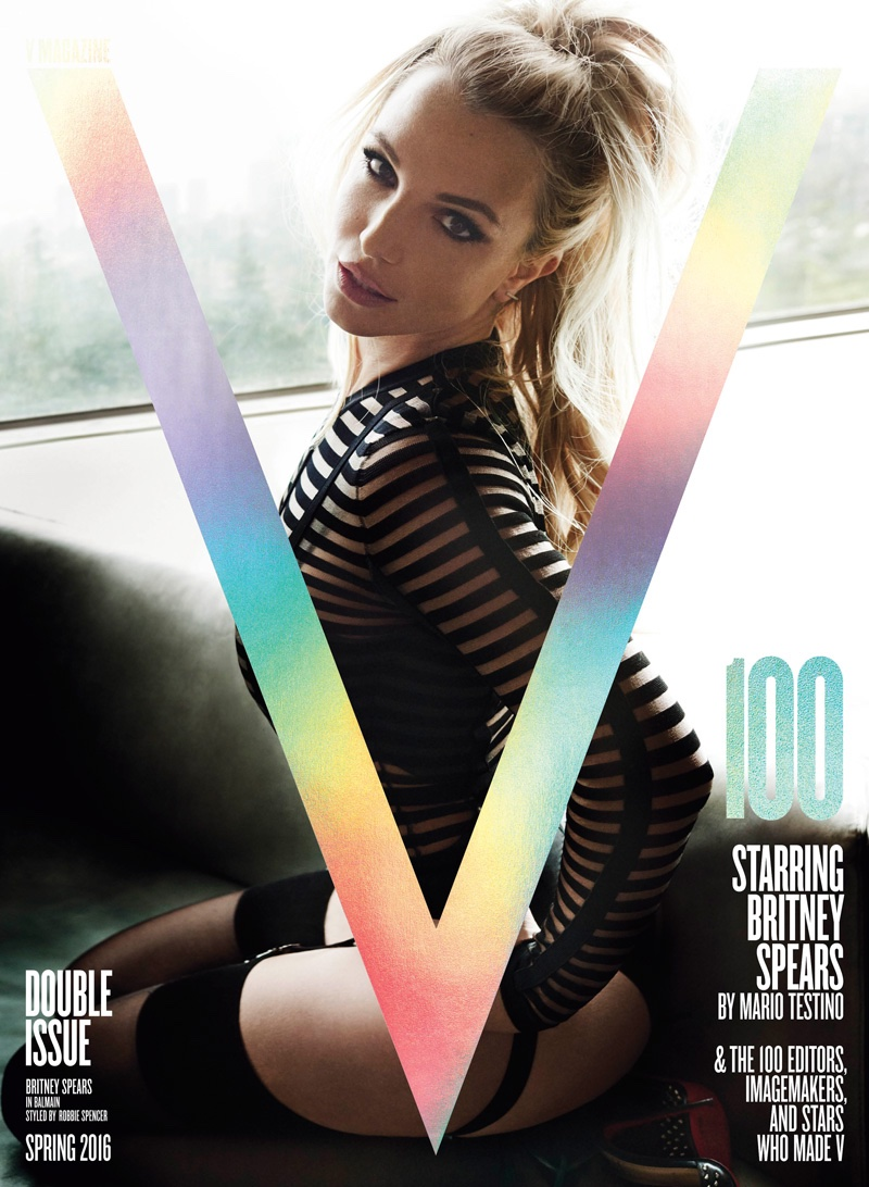 Britney Spears on V Magazine #100 Cover