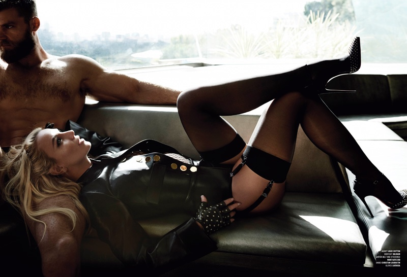 Britney Spears Gets Clad in Leather & Lace for V Magazine Cover Shoot
