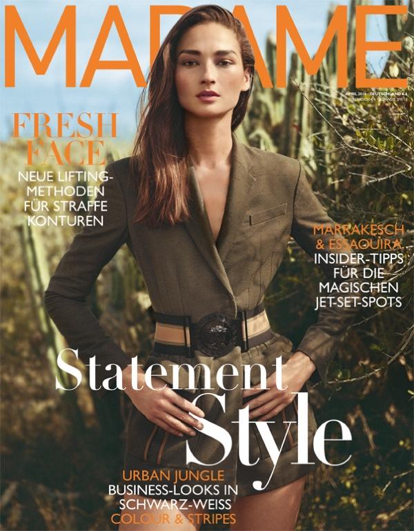 Bruna Tenorio on Madame Germany April 2016 Cover
