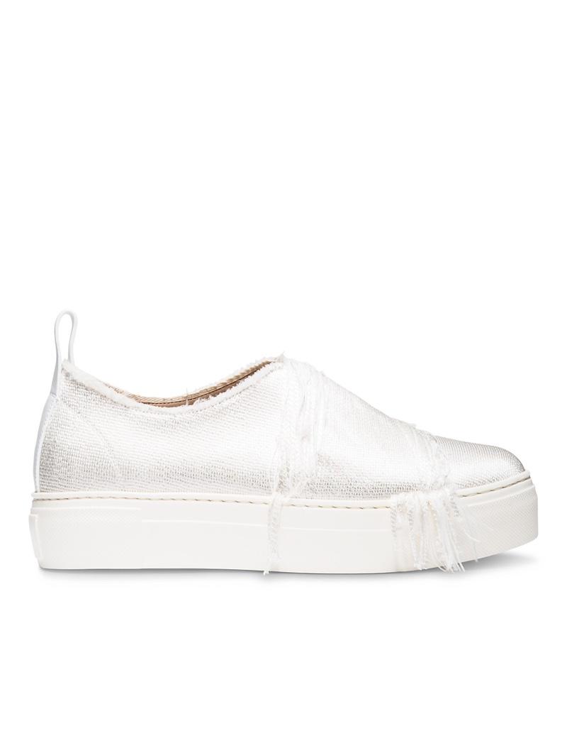 Calvin Klein Collection Frayed Silk Platform Sneaker