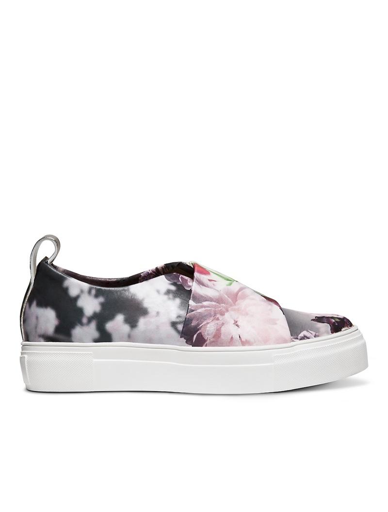 Calvin Klein Collection Peonia Print Calf Platform Sneaker