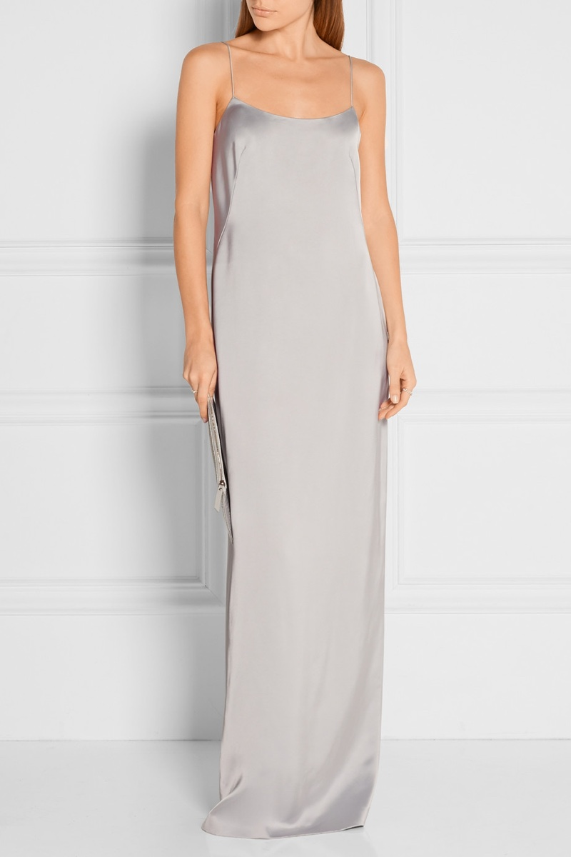 Calvin Klein Collection Satin Slip Dress