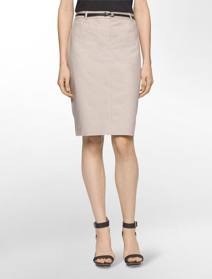 Calvin Klein White Label Belted Pencil Skirt