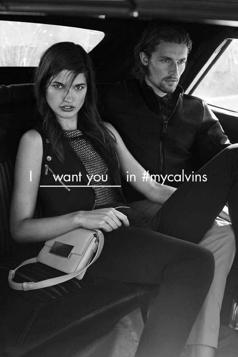 Julia Van Os and Wouter Peelen star in Calvin Klein White Label's spring-summer 2016 campaign