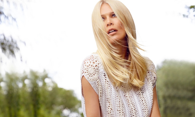 Claudia Schiffer`s Latest TSE Collaboration Is A Cashmere Dream