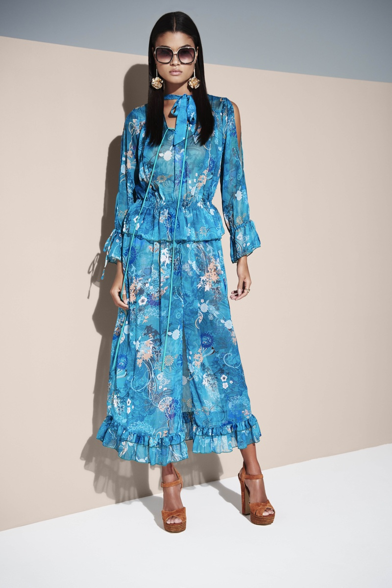 Daniela Braga Models Boho Styles from River Island Summer '16
