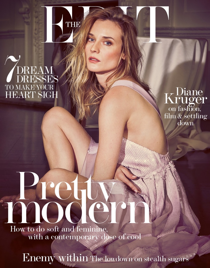 Diane Kruger Poses In Spring`s Standout Dresses For The Edit
