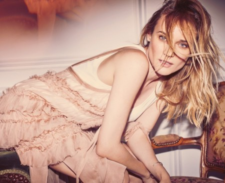 Diane Kruger Poses in Spring's Standout Dresses for The Edit