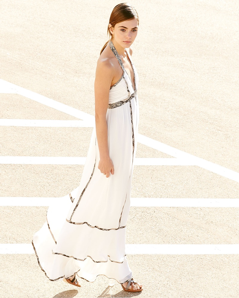 Diane von Furstenberg Sakara Paneled Silk Maxi Dress