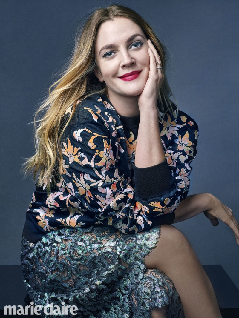 Drew Barrymore stars in Marie Claire's April issue