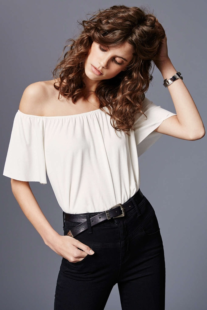 Ecote Mara Off the Shoulder Top in White