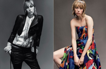 Edie Campbell Takes on the Spring Collections for Vogue Japan