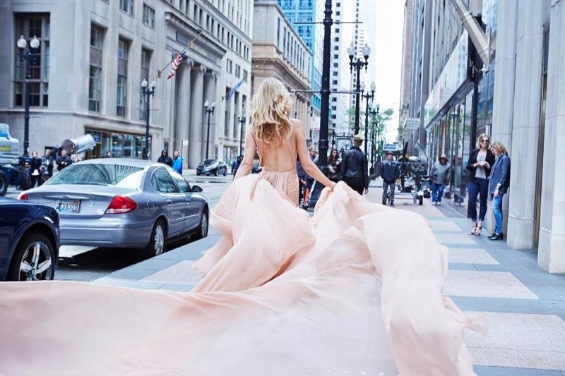 Toni Garrn behind the scenes at Toni Garrn perfume campaign shoot