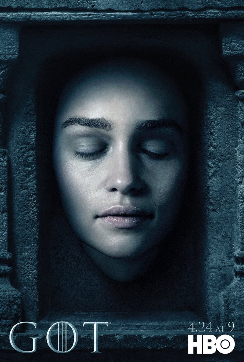 Emilia Clarke on Game of Thrones Season 6 character poster
