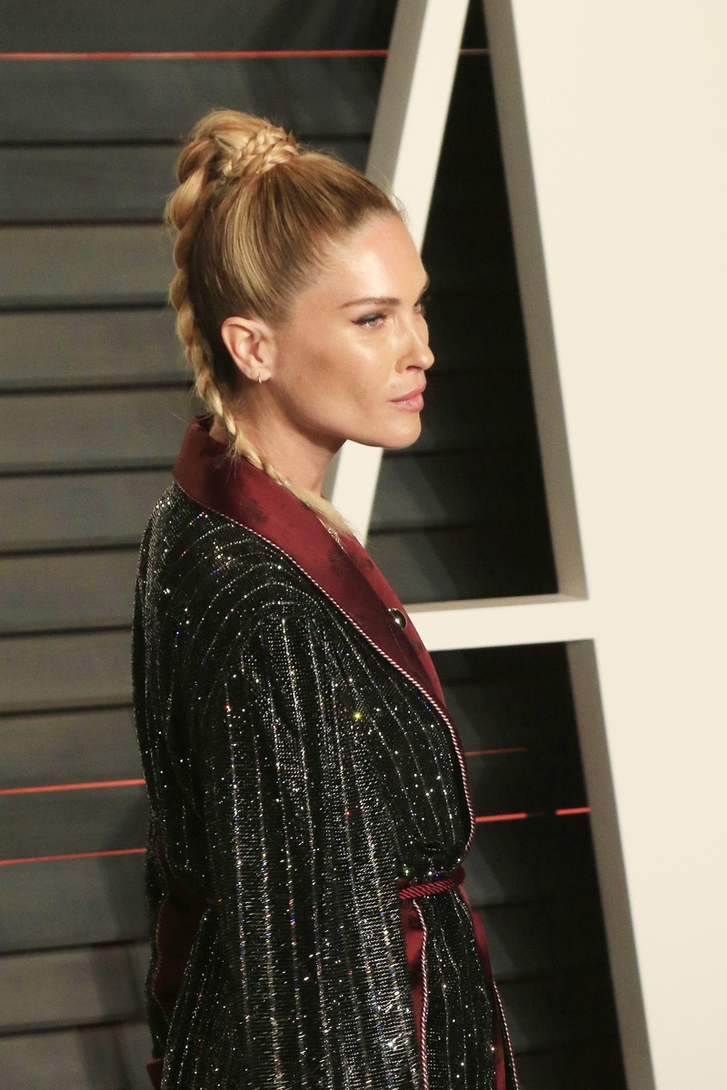 FEBRUARY 2016: Erin Wasson attends the 2016 Vanity Fair Oscar Party wearing her hair in a braided ponytail. Photo: Joe Seer / Shutterstock.com