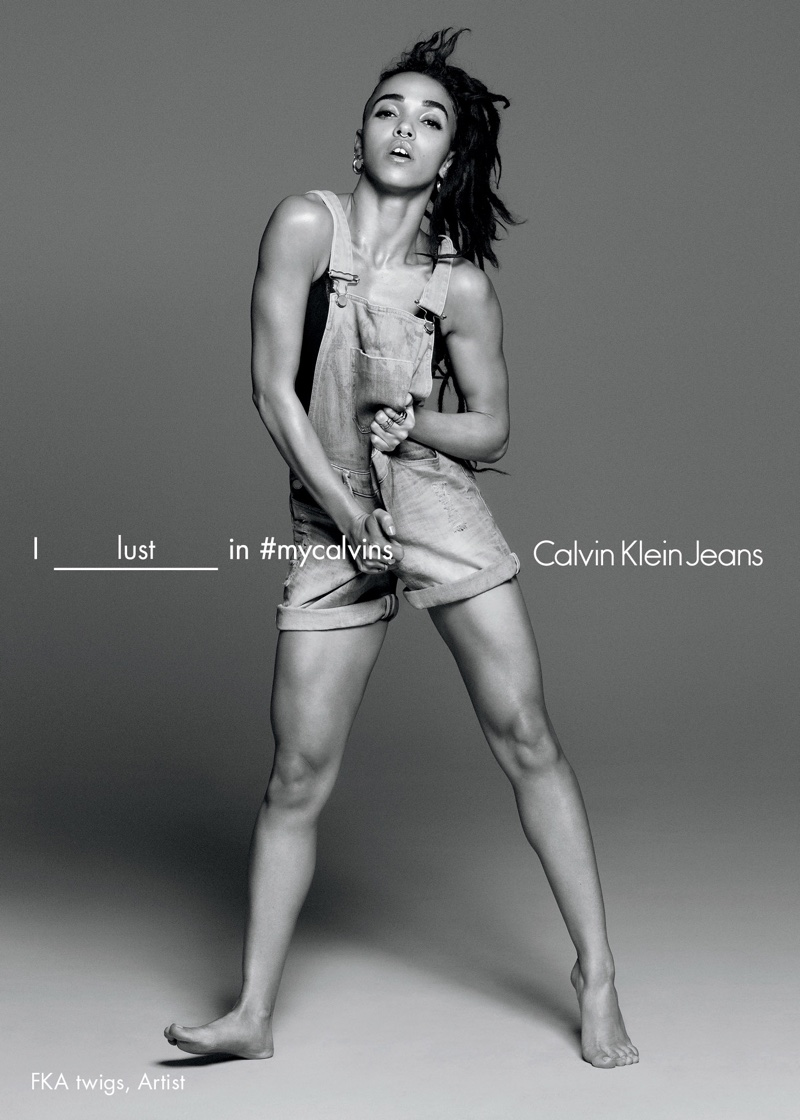 FKA Twigs stars in Calvin Klein Jeans' spring 2016 campaign