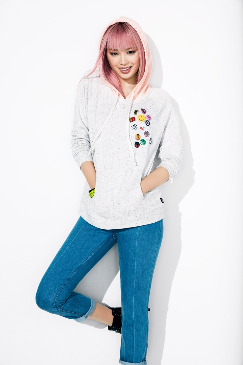 Fernanda Ly is all smiles in a BONDS hoodie