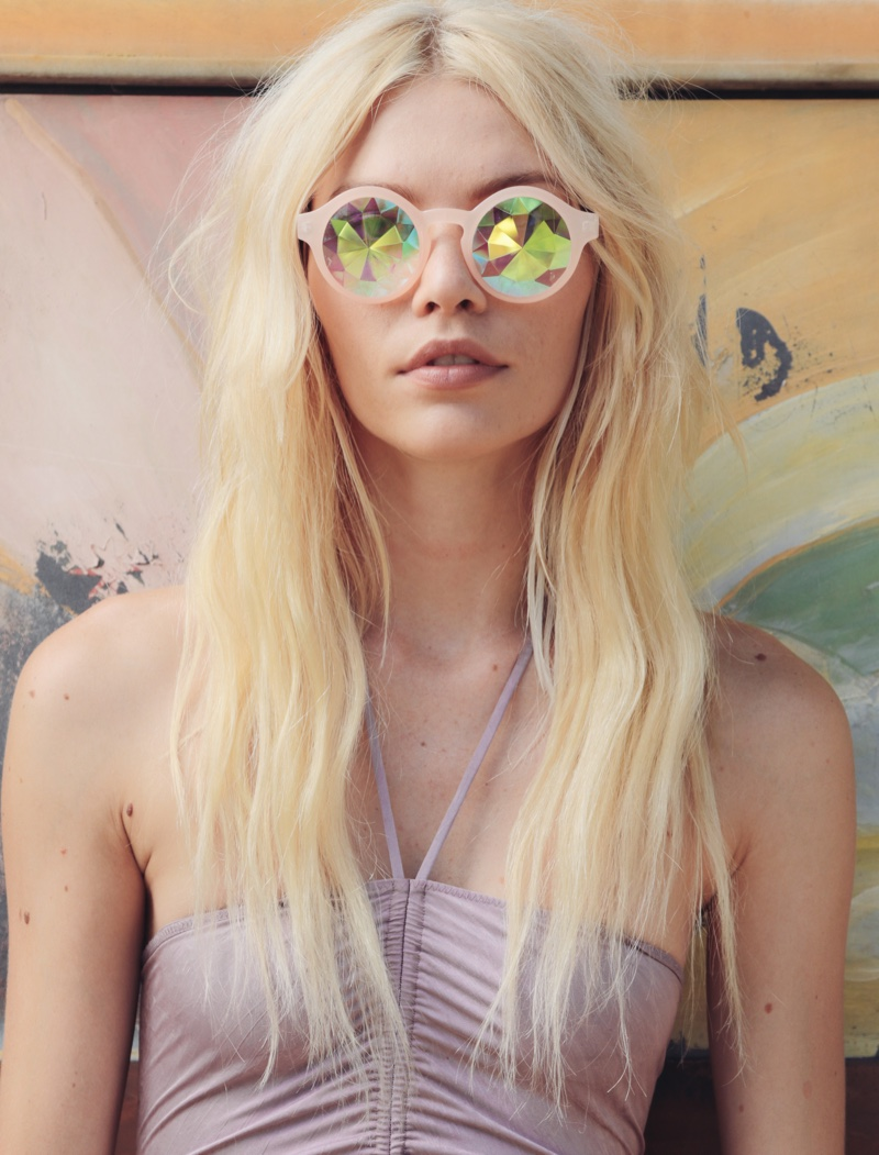Intimately Free People Disco Babe Bodysuit, Future Eyes Kaleidoscope Sunglasses