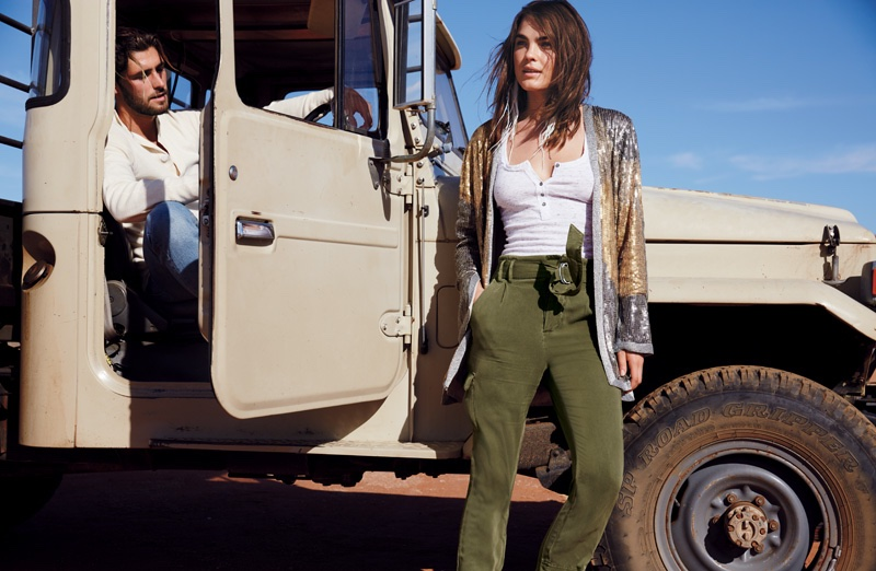 Free People Bianca Jacket, Free People Summer's Over Cargo Pants, We the Free Time Out Tank