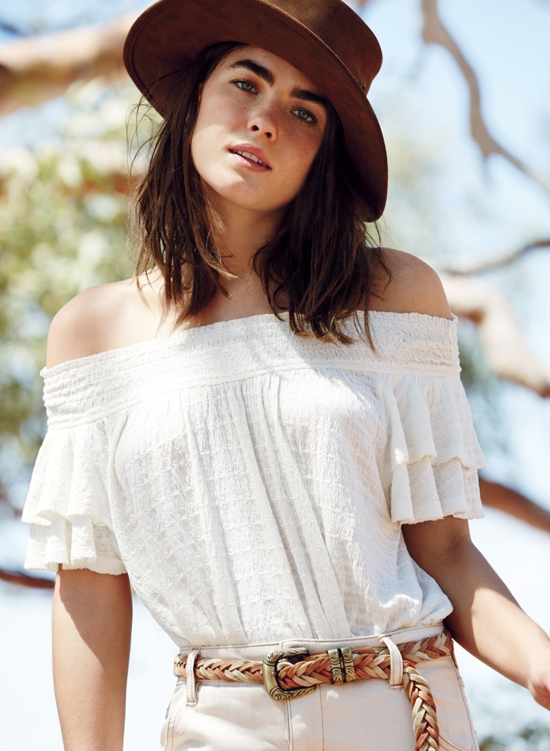Free People Santorini Top, Free People Lily West Hat