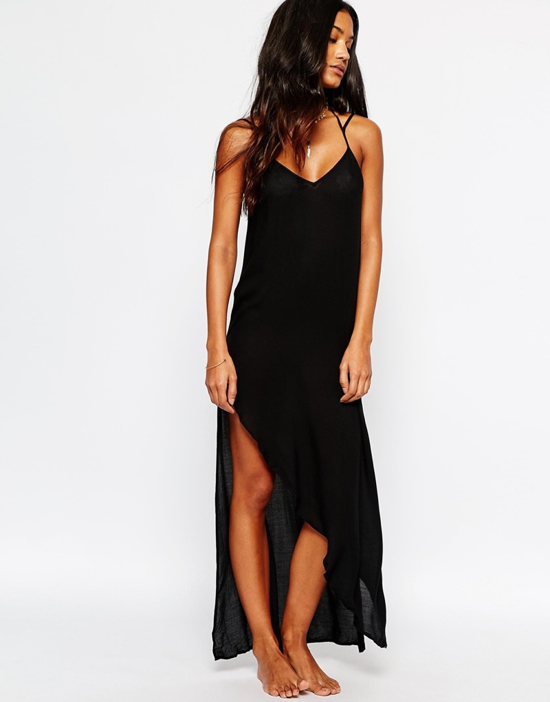 Free People Knotted Long Slip Dress