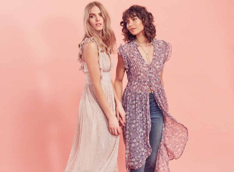 (Left) Free People My Antonia Dress (Right) Free People Lady Of Avalon Maxi Top