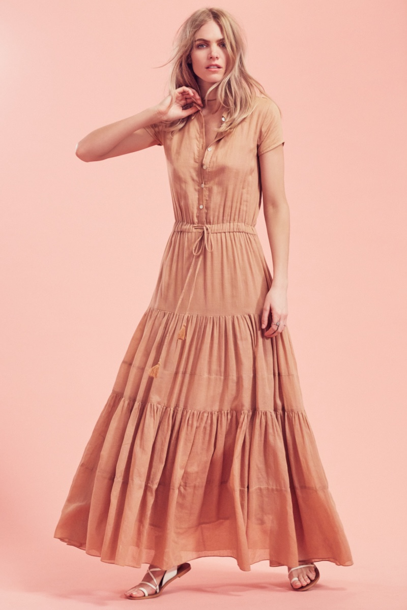 Carolina K Nathalie Short Sleeved Dress