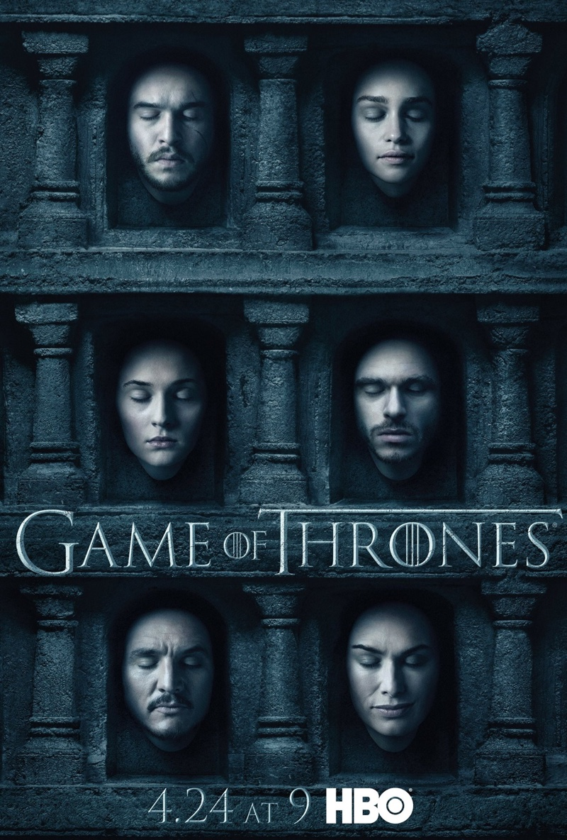 Game of Thrones Season 6 poster. The HBO show premieres on April 24, 2016, at 9 PM