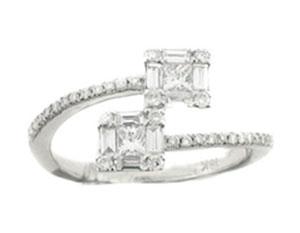 18K WHITE GOLD RING Bridal Rings