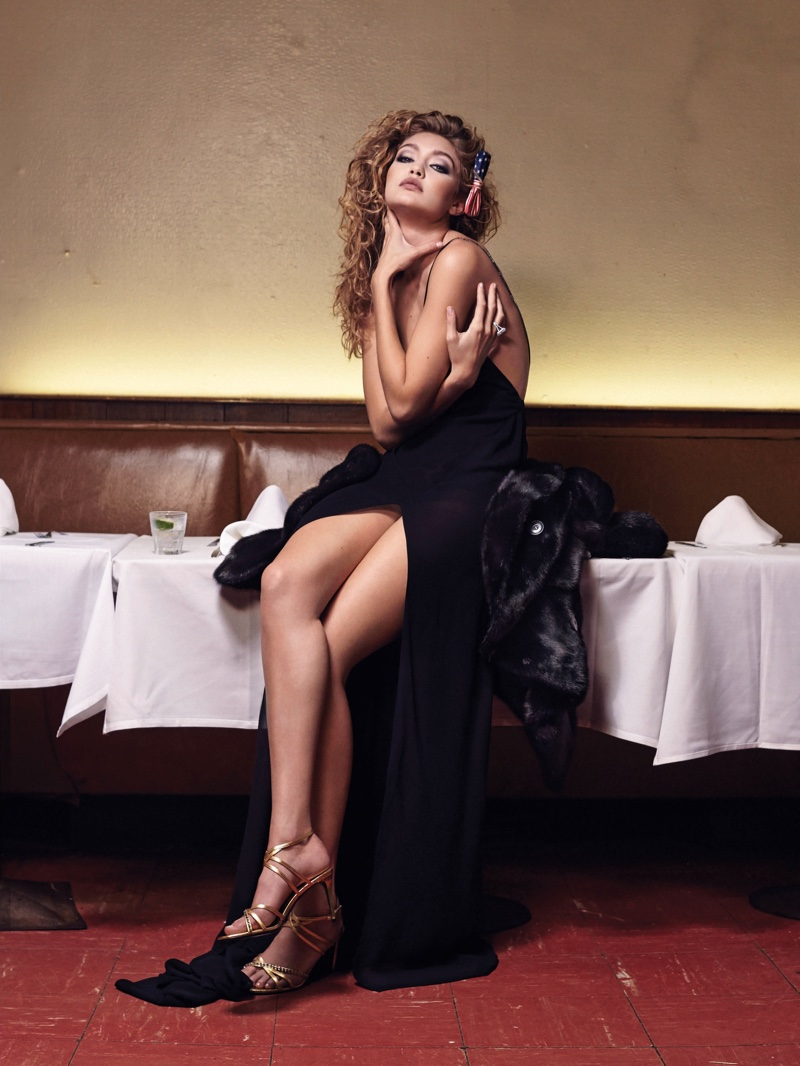 Gigi Hadid Models Glamorous Gowns for CR Fashion Book