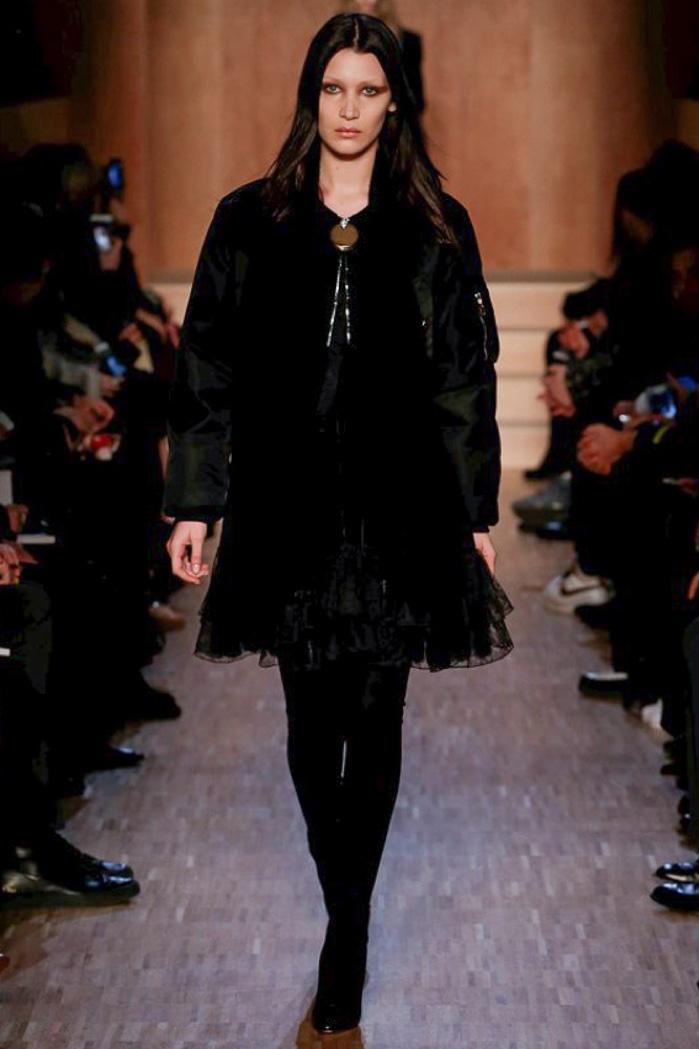 Bella Hadid walks the runway at Givenchy's fall-winter 2016 show presented during Paris Fashion Week