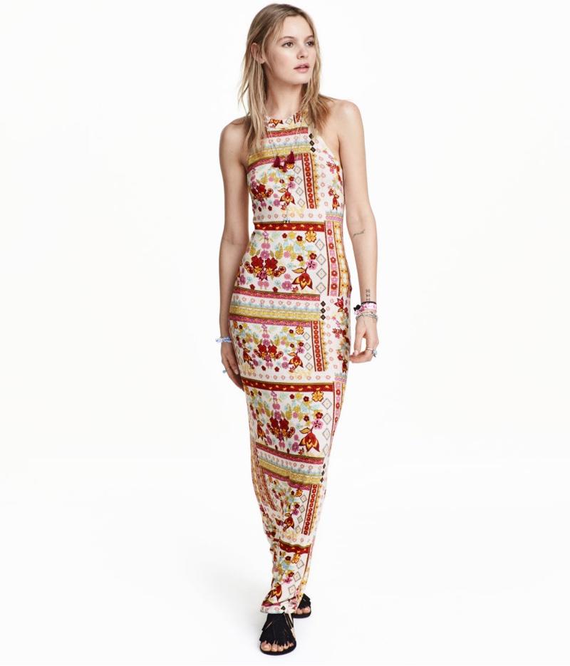 H&M Loves Coachella Patterned Maxi Dress