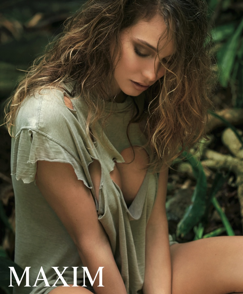 Hannah Davis models a ripped top in the sultry spread