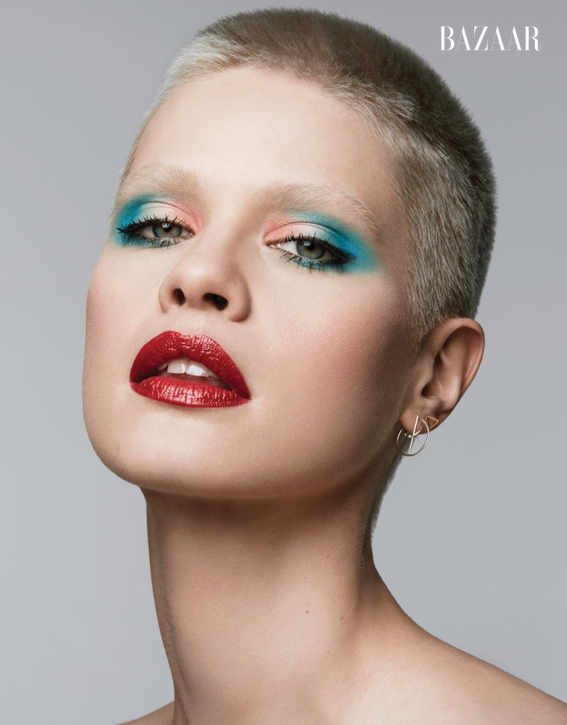 Shades of Beauty: Carine Roitfeld Curates Colorful Makeup Looks for BAZAAR