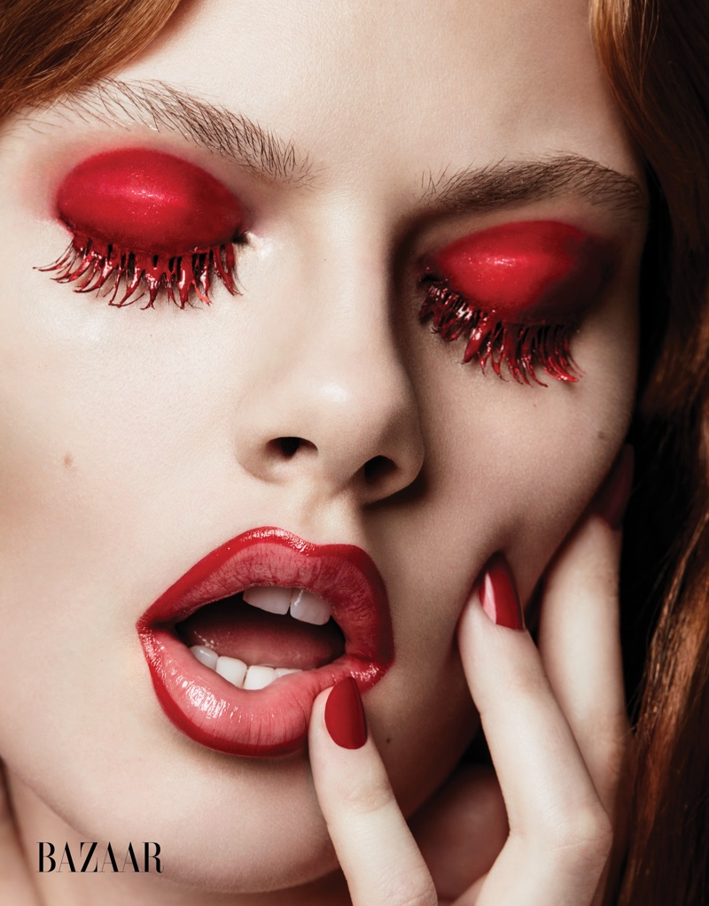 Shades of Beauty: Carine Roitfeld Curates Colorful Makeup ...