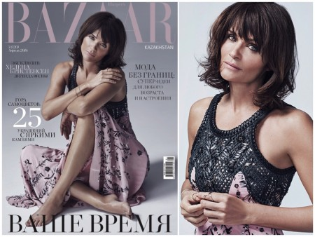 Helena Christensen Looks As Elegant as Ever in BAZAAR Kazakhstan