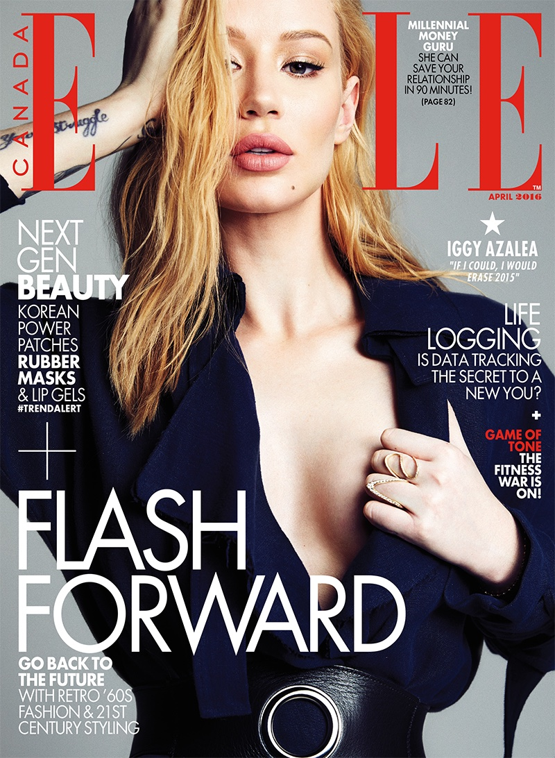 Iggy Azalea on ELLE Canada April 2016 cover