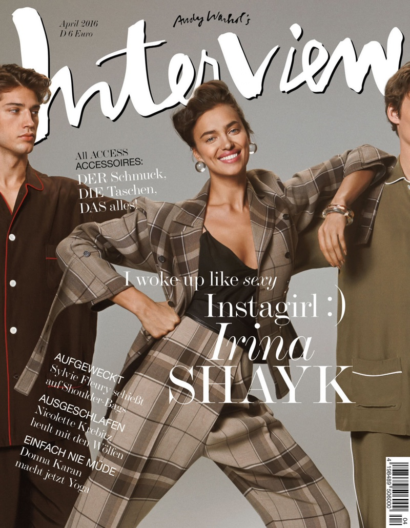 Irina Shayk on Interview Germany April 2016 Cover