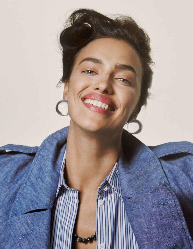 Irina Shayk shows off a winning smile in this image