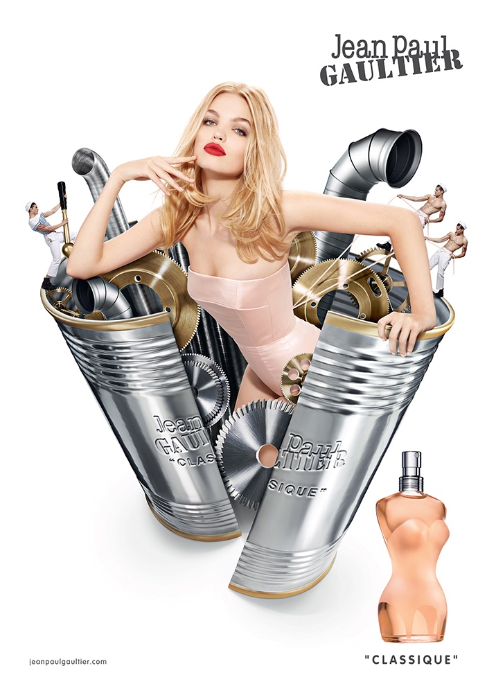 Daphne Groeneveld stars in Jean Paul Gaultier's Classique Perfume campaign
