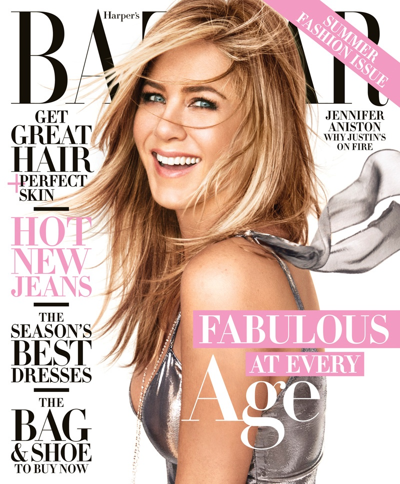 Jennifer Aniston on Harper's Bazaar April 2016 Cover