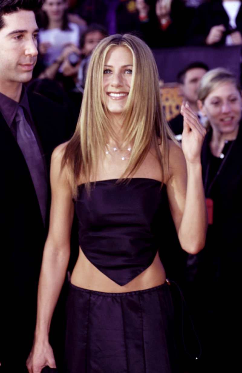 In 1999, Jennifer Aniston showed off a long and straight blonde hairstyle. Photo: Everett Collection / Shutterstock.com